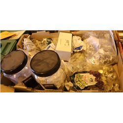 BOX OF ASSORTED MARINE PARTS, INCLUDES: PROP