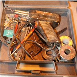 WELLER SOLDER GUN AND MORE IN CASE