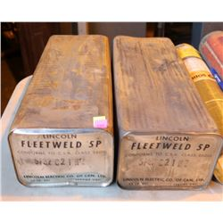 LOT OF TWO 50LB LINCOLN FLEETWELD 5P 5/32 C2 1 HZ