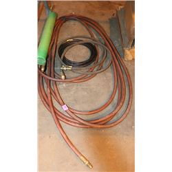 LOT OF 4 AIR LINE HOSES, VARIOUS LENGTHS