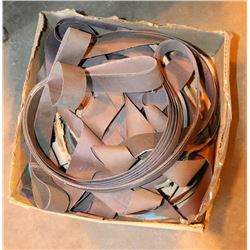 BOX OF VARIOUS SANDING BELTS