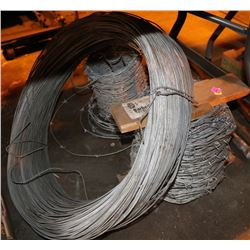 ROLL OF GALVANIZED WIRE & 2 ROLL BARBED WIRE