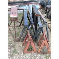 LOT OF 8 MISC STEEL STANDS