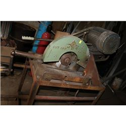 JET INDUSTRIAL CUT OFF SAW, 240 VOLT ON STAND