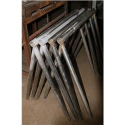 LOT OF 4 STAINLESS STEEL PIPE STANDS