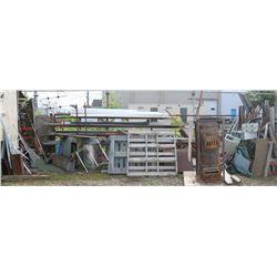 LARGE QUANTITY OF SCRAP STEEL & PVC PIPE