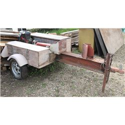 TRAILER TYPE HYDRAULIC WOOD SPLITTER C/W 10HP GAS