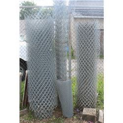 3 MISC ROLLS OF CHAIN LINK FENCE & CHICKEN WIRE