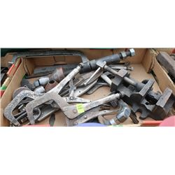 FLAT OF VISE GRIPS, CLAMPS, AND TABLE VISE