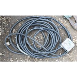 EXTENSION CORD WITH 4 PLUG RECEPTACLE