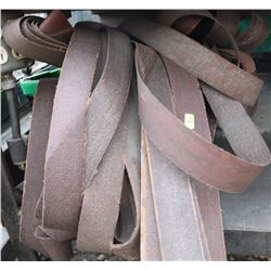 LOT OF VARIOUS SANDING BELTS
