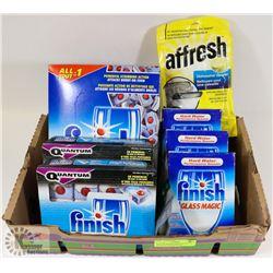 FLAT OF DISHWASHER PRODUCTS AFFRESH 3 BOXES RINSE