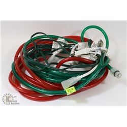 RED & GREEN ROPE LIGHTS W/EXTENSION CORD &