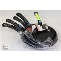 5PC REMOVABLE HANDLES FRYING PAN SET