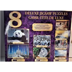 9)  DELUXE 8 SEPARATE IMAGE PUZZLES