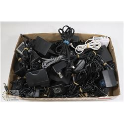 LARGE FLAT OF VARIOUS POWER SUPPLIES & CONNECTORS