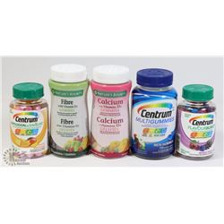 BAG OF ASSORTED VITAMINS AND SUPPLEMENTS