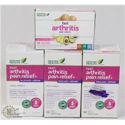 BAG OF ASSORTED ARTHRITIS RELIEF MEDICATIONS