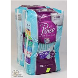 TWO PACKS OF POISE ULTRA THIN PADS