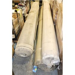 UNCLAIMED MERCHANDISE 3 ROLLS OF CARPET