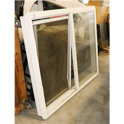 WINDOW WITH BENT SCREEN