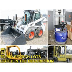 FEATURED LOTS: FORKLIFTS, BOBCAT & TRAILER