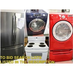 FEATURED LOTS: APPLIANCES