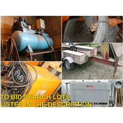 FEATURED LOTS: HEAVY DUTY TOOLS/EQUIPMENT