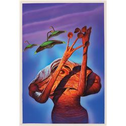 """Osman Askin signed original """"War of the Worlds"""" cover painting."""