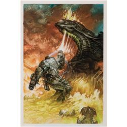 Dave Dorman signed original published painting from Aliens: Tribes.