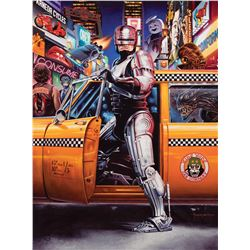 "Jason Edmiston signed original ""pop culture explosion"" painting for a Crazy 4 Cult exhibition poster"