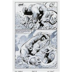 Eric Powell signed original 3-page illustration from The Goon #6.