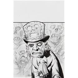 Eric Powell signed original cover illustration for The Goon #14.