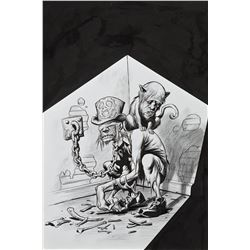 Eric Powell original cover illustration for The Goon #28.