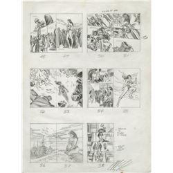 Alex Ross signed original storyboard artwork for Wonder Woman: Spirit of Truth.