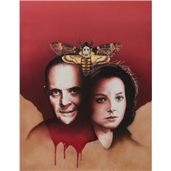 David Voigt signed original The Silence of the Lambs cover painting for Cinefantastique magazine.