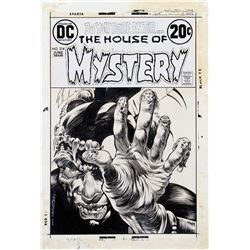 Bernie Wrightson signed original cover art for The House of Mystery #214.
