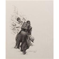 Bernie Wrightson signed concept artwork for Darabont's unrealized film adaptation of Farenheit 451.
