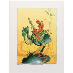 William Stout signed Wizards 20th Anniversary art print and Barry Windsor Smith art print.