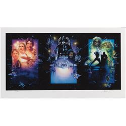 Drew Struzan signed Star Wars: Special Edition Trilogy triptych Artist's Proof limited print.