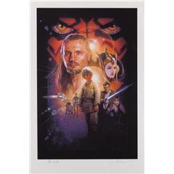 Drew Struzan (2) Star Wars: Episode 1 - The Phantom Menace 1-sheet Style B Artist's Proof prints.