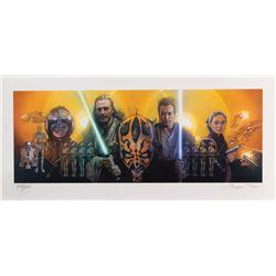 Drew Struzan signed (2) Star Wars: Episode I - The Phantom Menace TV Guide covers panoramic prints.