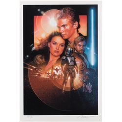 Drew Struzan signed Star Wars: Episode II - Attack of the Clones Style B poster Proof art print.