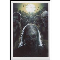 The Walking Dead Season 1 art print by Drew Struzan and Season 2 art print by Tim Bradstreet.