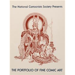 The National Cartoonists Society Portfolio of Fine Comic Art with many plates signed.