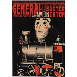 Buster Keaton Polish A1 poster for The General.