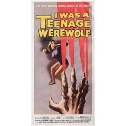 I Was a Teenage Werewolf 3-sheet poster.