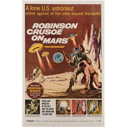 Robinson Crusoe on Mars 1-sheet poster and oversize color signed photograph.