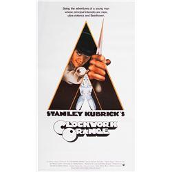 A Clockwork Orange 3-sheet poster.