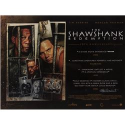 The Shawshank Redemption 10th Anniversary Style B UK quad poster signed by Frank Darabont & DVD set.